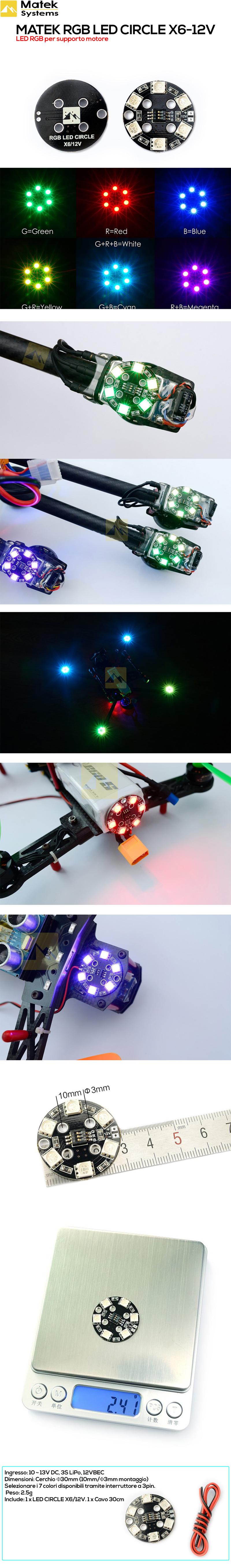 matek-rgb-led-circle-x6--12v-led-per-fpv-e-droni-costruzionedroni