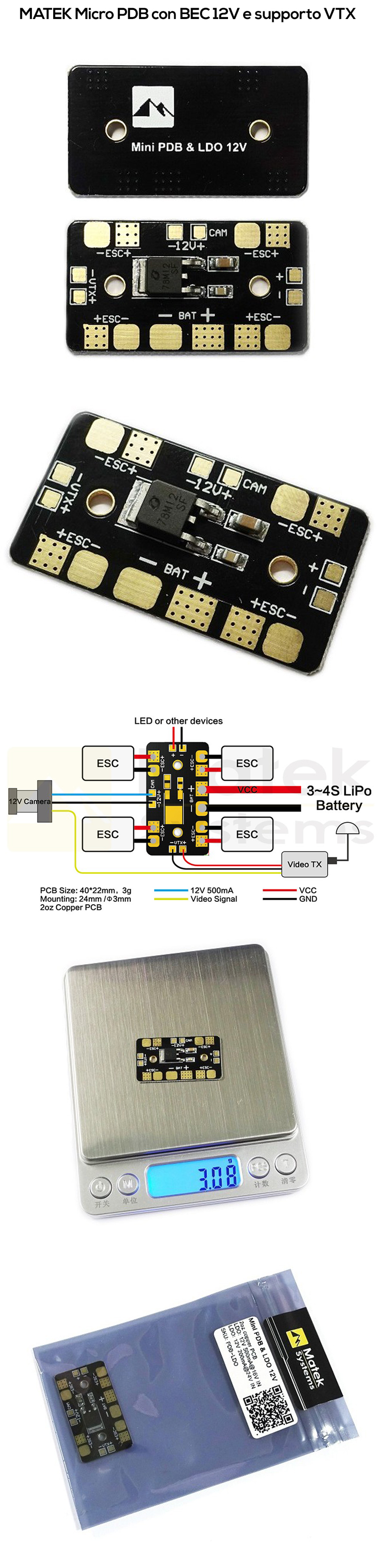 matek-micro-power-distribution-board-micro-pdb--vtx-camera-led-and-power-hub-costruzione-droni-fpv